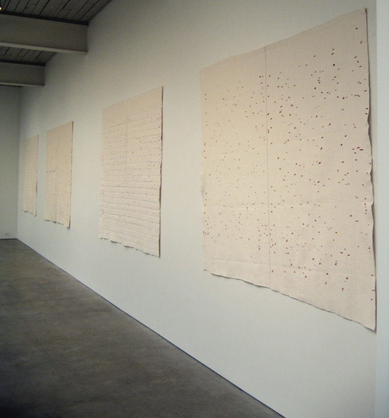 Jen Bervin, The Composite Marks of Emily Dickinson's Fascicles Series in the exhibition Five Visual Poets at The Wright Exhibition Space, Seattle, Washington, 2006